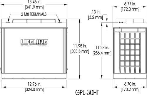GPL-30HT Marine Battery Specifications